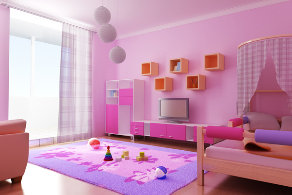 childrens bedroom garden theme