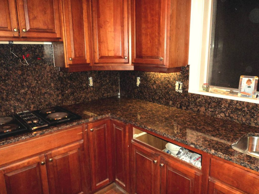 Granite Sandstone Countertop With Tan Cabinet Kitchen Design Ideas ~ Kitchen granite counter tops home improvement