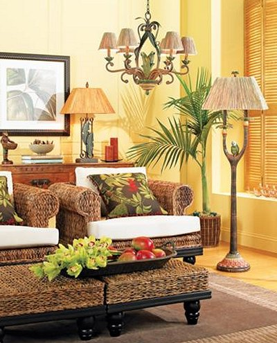 classic tropical island home decor