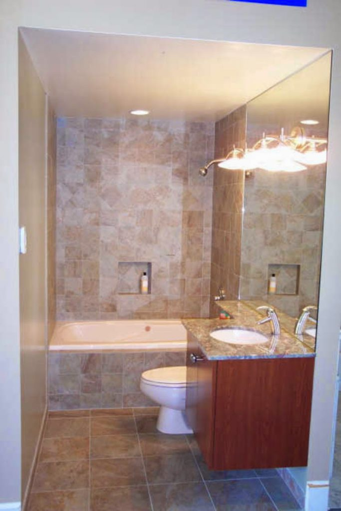 Ideas for small bathrooms home improvement for Bathroom ideas small spaces photos