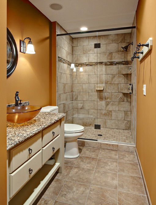 Inspirations for Decorating Small Bathrooms on Small Budget 3