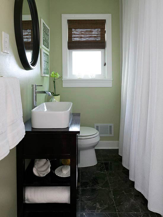 Inspirations For Decorating Small Bathrooms On Small