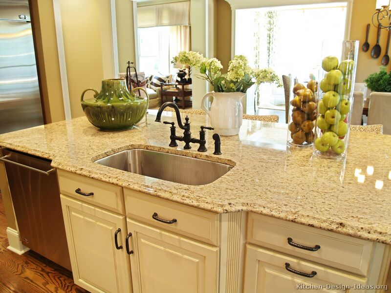 kitchen granite countertops with tile backsplash